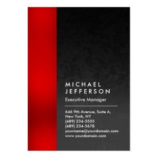 Vertikal röd unik grå färgmönsterprofessionell set av breda visitkort