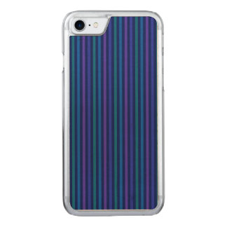 Vertikala lilor för randblåttgrönt carved iPhone 7 skal