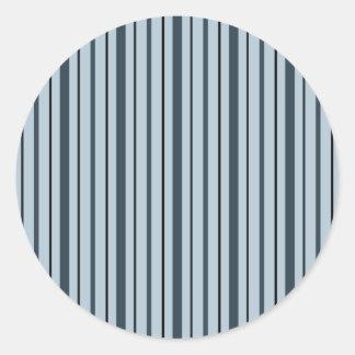Vertikala randar 1 - blått runt klistermärke
