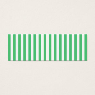 Vertikala randar för vit och för smaragd litet visitkort