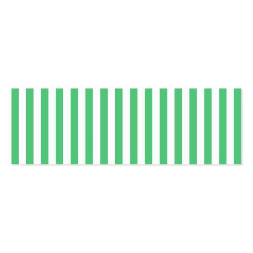 Vertikala randar för vit och för smaragd visitkort mall
