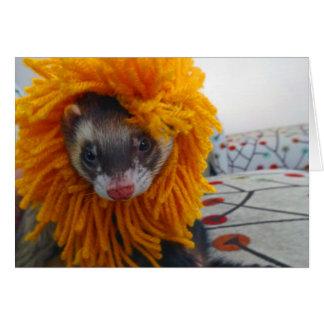 Vessla med det lejona dräktHalloween kortet Hälsningskort