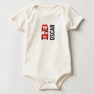 Vest för baby för röd London buss organisk Body