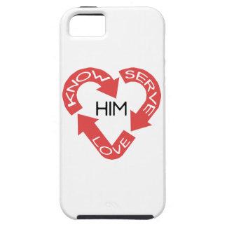 Vet honom, älska honom och tjäna som honom iPhone 5 fodral