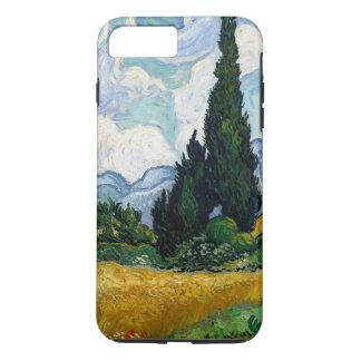 Vetefält med Cypresses
