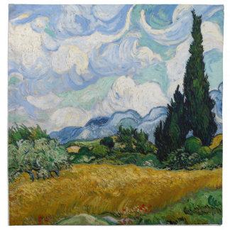 Vetefält med Cypressesservetten Tygservett