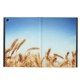 Vetefält mot blå himmel fodral för iPad air