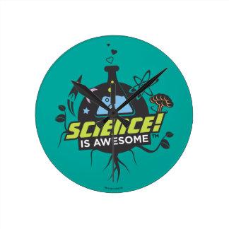 Vetenskap är enorm rund klocka