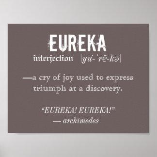 Vetenskap för Eureka definitionArchimedes princip Poster