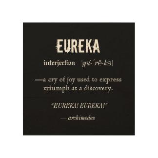 Vetenskap för Eureka definitionArchimedes princip Trätavla