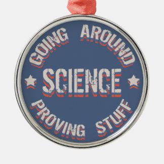 Vetenskap som bevisar saker julgransprydnad metall
