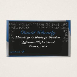 Vetenskapslärare krita stiger ombord visitkorten visitkort
