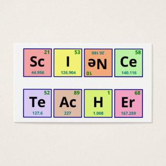 Vetenskapslärare Visitkort