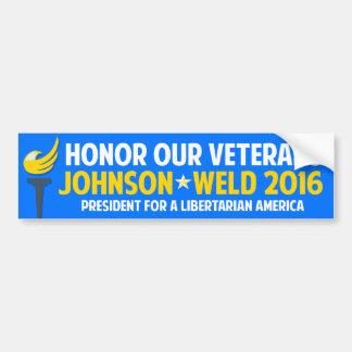 Veteran 2016 för svetsning för Gary Johnson en som Bildekal