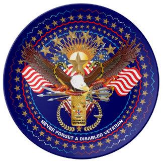 Veteran beskådar om design porslinstallrik