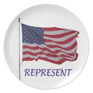 veteran flagga föreställer tallrik