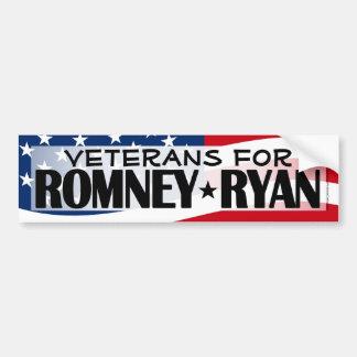 Veteran för Romney/Ryan bildekal