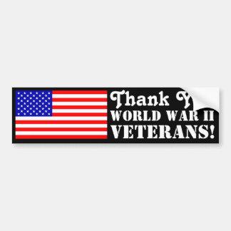 Veteran för tack WW2! Bildekal