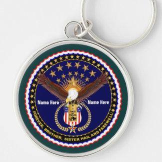 Veterandal av tårarminnet över 50 färger rund silverfärgad nyckelring