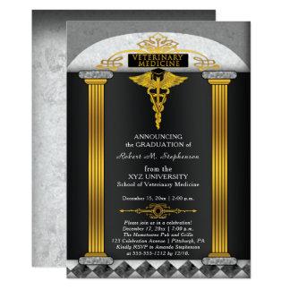 Veterinär- medicinveterinärstudenten 12,7 x 17,8 cm inbjudningskort