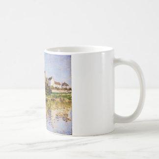 Vetheuil kyrkan vid Claude Monet Kaffemugg