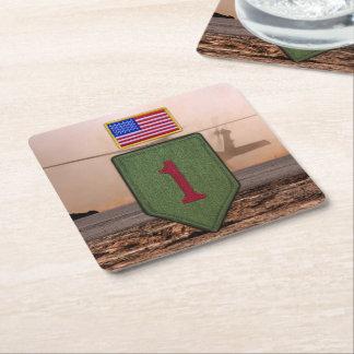vets stora röda veteran 1 för det 1st infanterit underlägg papper kvadrat