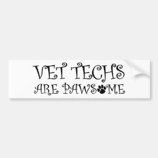 VetTechs är Pawsome Bildekal