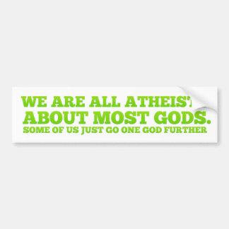 Vi är alla ateister bildekal