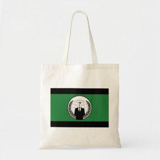 Vi är anonym grönt och svärtar flagga kasse