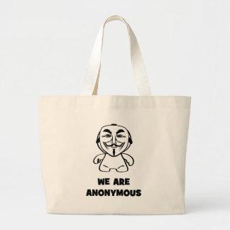 Vi är anonyma jumbo tygkasse