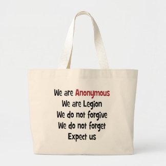 Vi är anonyma tote bag