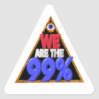 Vi är den 99% occupy wall street protesten triangelformat klistermärke