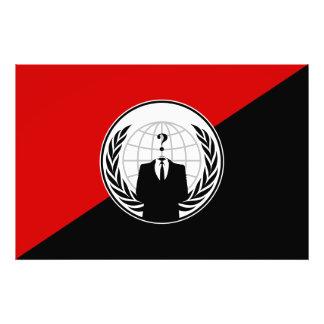 Vi är den anonyma anarkistflagga fotontryck
