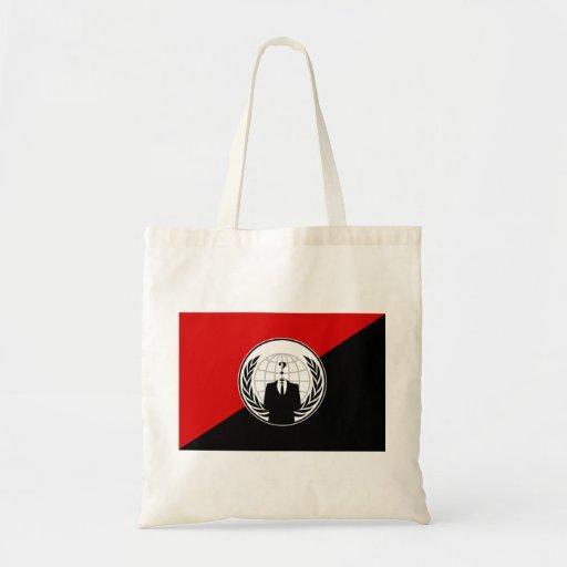 Vi är den anonyma anarkistflagga tygkassar