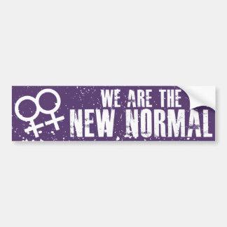 Vi är den nya det normalalesbiskbildekalet bildekal