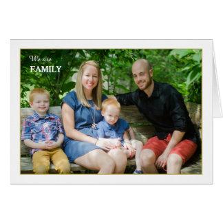 Vi är familjen vikta fotokortet hälsningskort