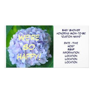Vi är så lyckliga! Baby showeranpassningsbarinbjud Skräddarsydda Fotokort