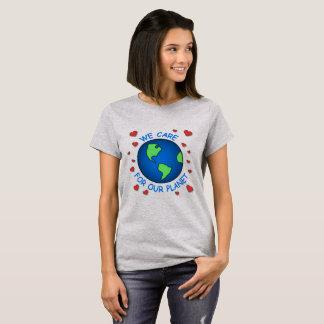 Vi att bry sig om vårt planet tröjor