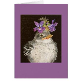 Vi bebishärmfågelkortet hälsningskort