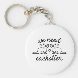 Vi behöver Eachotter Rund Nyckelring
