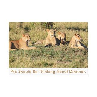 Vi bör vara tänkande om Dinner. Canvastryck