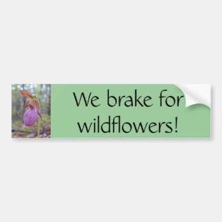 Vi bromsar för vildblommar! bildekal