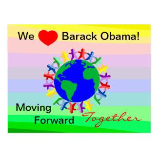 Vi den framåt hjärtaBarack Obama-Flyttan Vykort