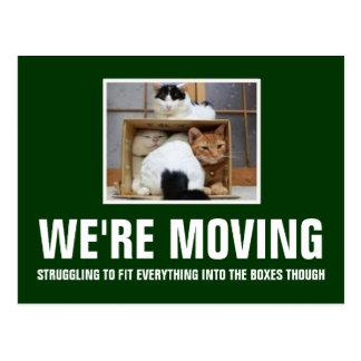 Vi flyttar oss vykort