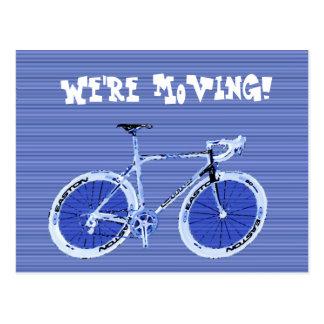 Vi flyttar oss! vykort