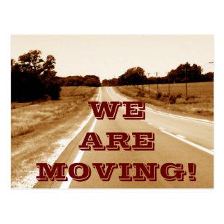 Vi flyttar oss-- vykort