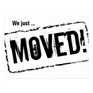 Vi flyttat precis vykort för nytt hem
