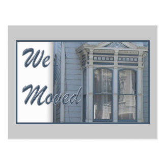 Vi flyttat vykort