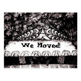 Vi flyttat! vykort