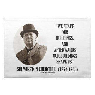 Vi formar byggnader Churchill för byggnader Bordstablett